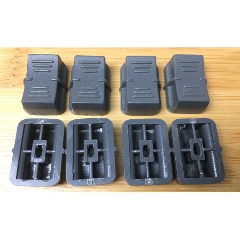SGM set 12 pezzi Copri Slider Grigio Scuro per serie STUDIO e Scan Control