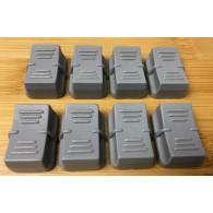 SGM set 12 pezzi Copri Slider Grigio chiaro per serie STUDIO e Scan Control