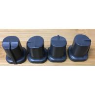 SGM set 4 pezzi  Copri potenziometri Grigio scuro per serie STUDIO e Scan Control