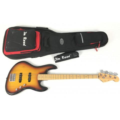 Jim Reed Jazz Bass con custodia e tracolla