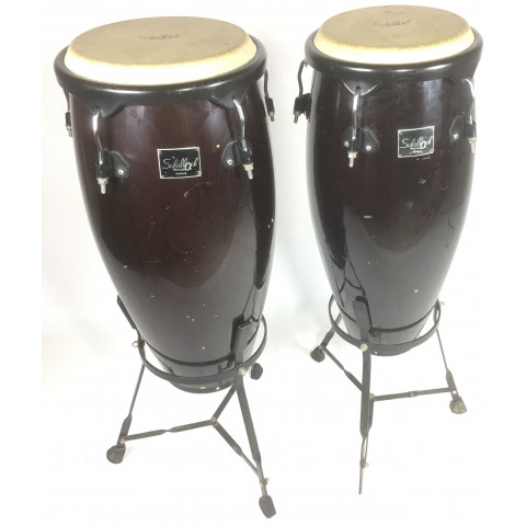 Shallock Percussion Congas Coppia con supporti