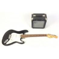 SX Stratocaster con amplificatore e custodia